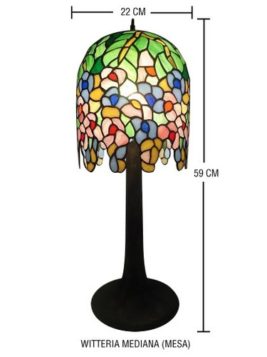 lampara tiffany modelo witteria de mesa
