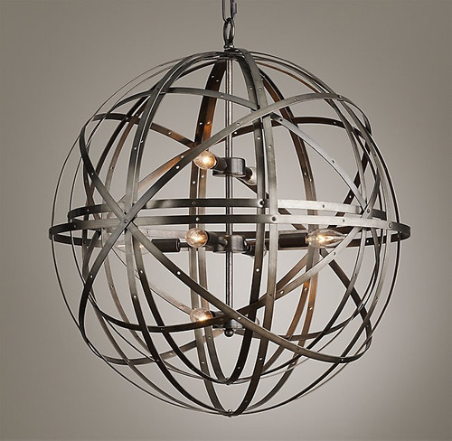 lampara tipo esfera orbital colgante (de lujo)