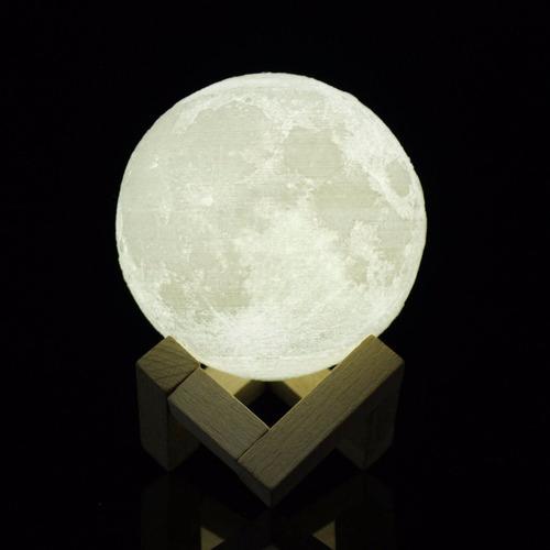 lámpara tipo luna 3d 15cm usb envío gratis