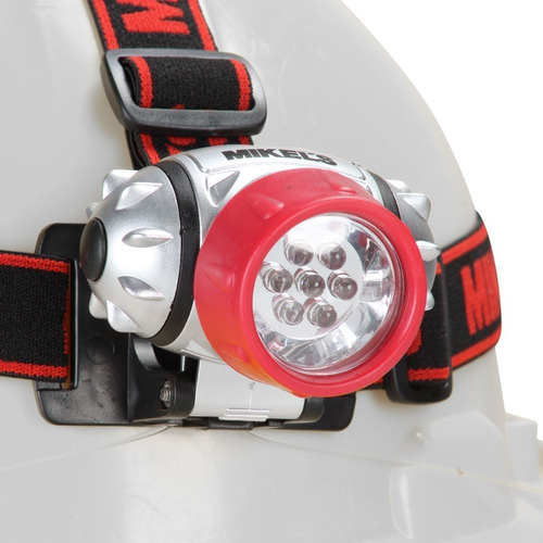 lampara tipo minero con leds incluye 3 pilas aaa mikels