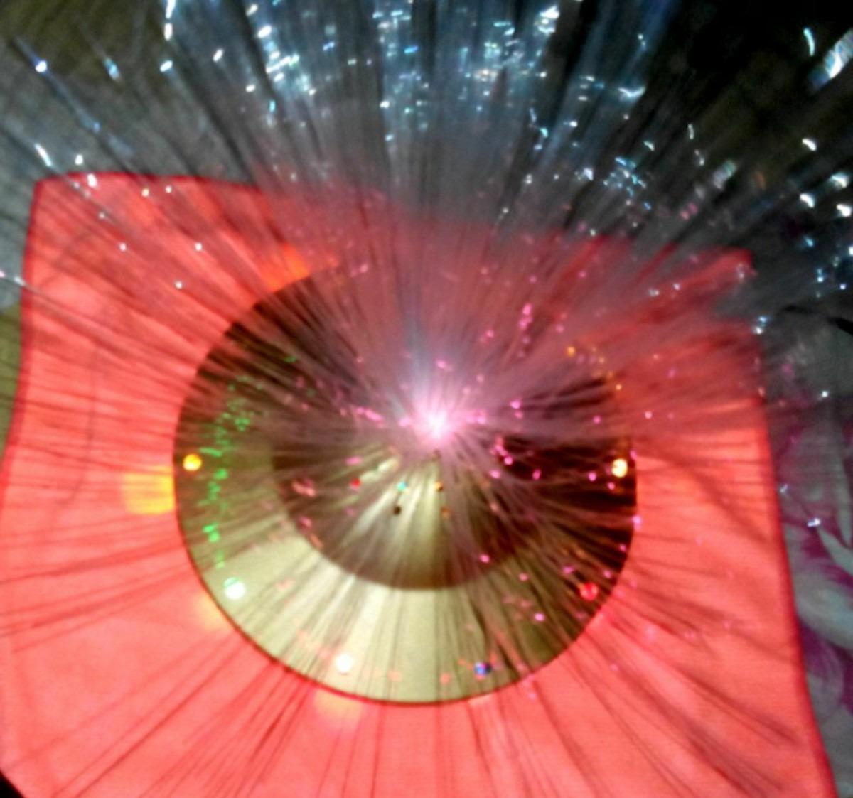 Lampara tipo platillo con luces de colores bs for Luces de colores