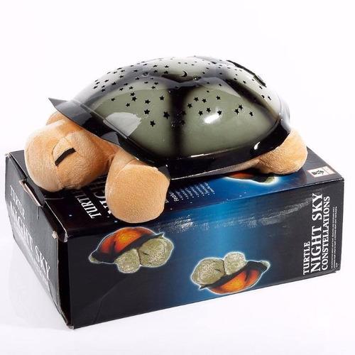 lampara tortuga proyector de estrellas led musical