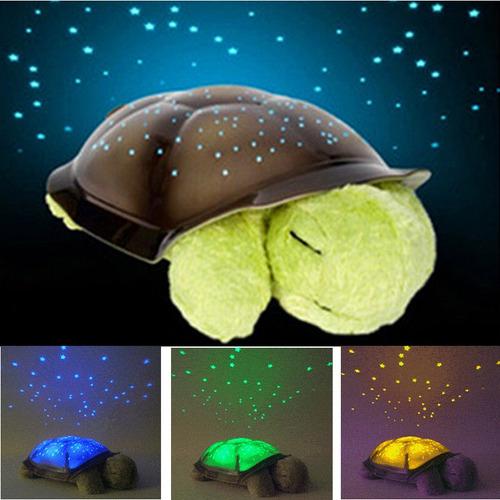 lampara tortuga proyector estrellas led musical