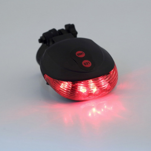 lampara trasera para bicicleta con laser y luz led d1010