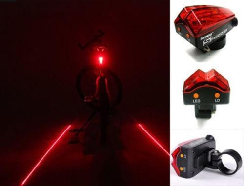 c91e4ee11 Lampara Trasera Seguridad Con Luz Led Y Laser Para Bicicleta ...