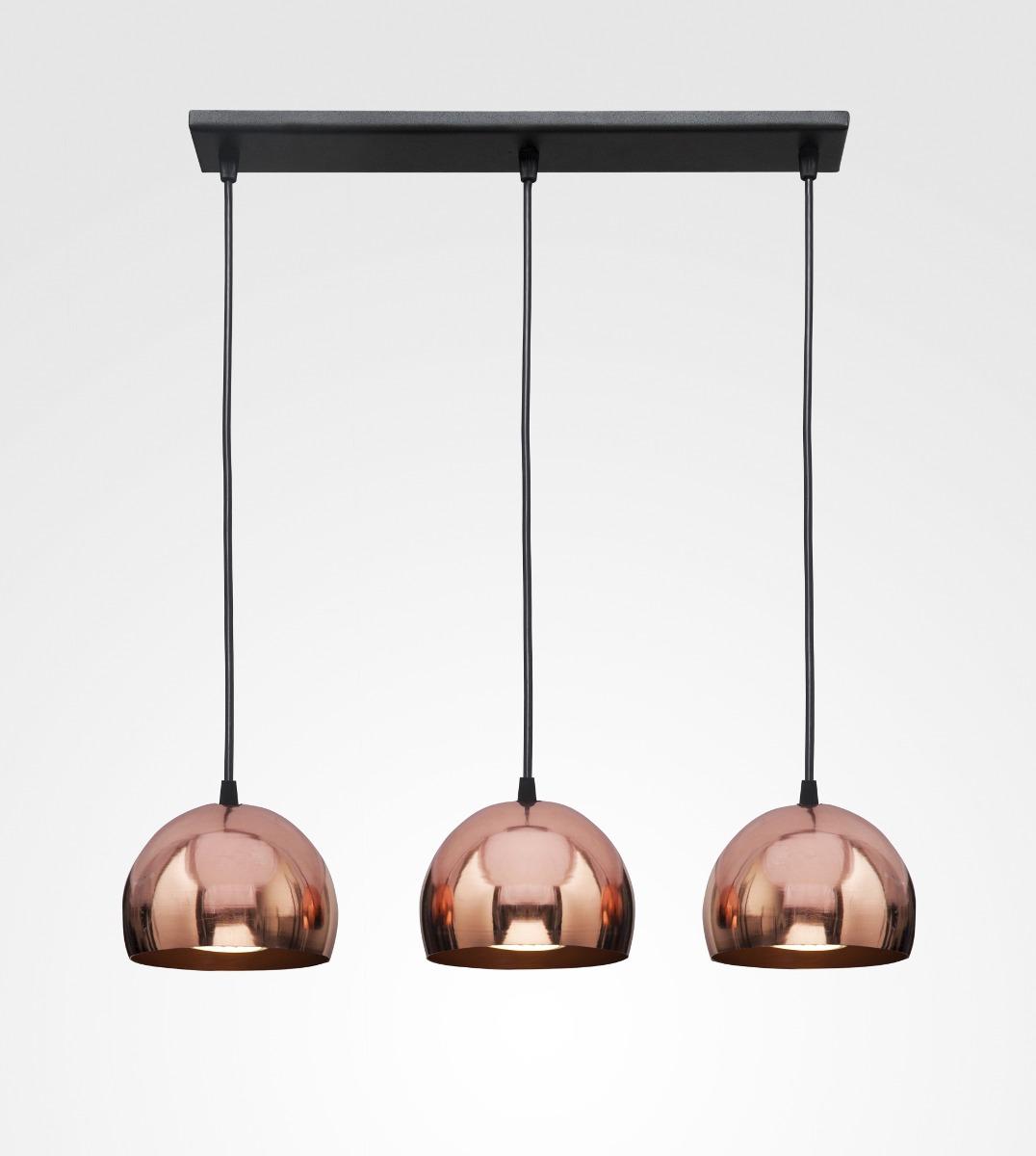 Tres 16 Cm Laqueado Lámpara Esferas Cobre VqzpMGSU