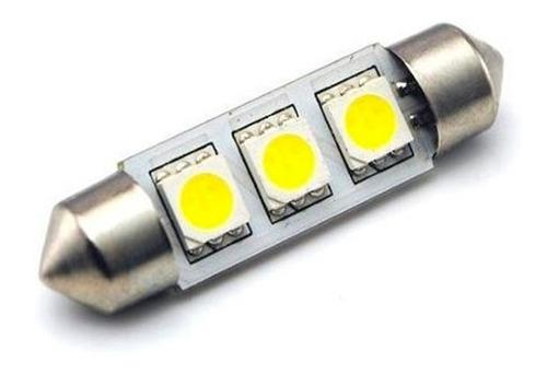 lampara tubular 24v 3 leds 5050 blanca 11x39