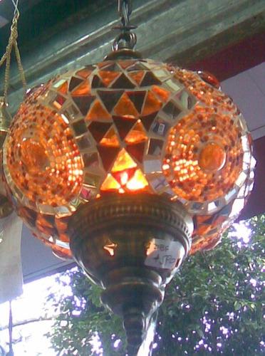 lampara turca para colgar mediana 47 x 17 cm