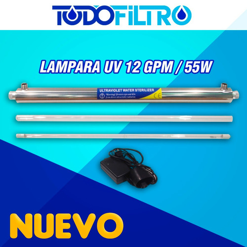 lampara ultravioleta (uv) germicida 12 gpm / 55watts