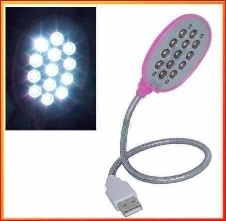 lámpara usb led flexible light pc notebook laptop oferta mac