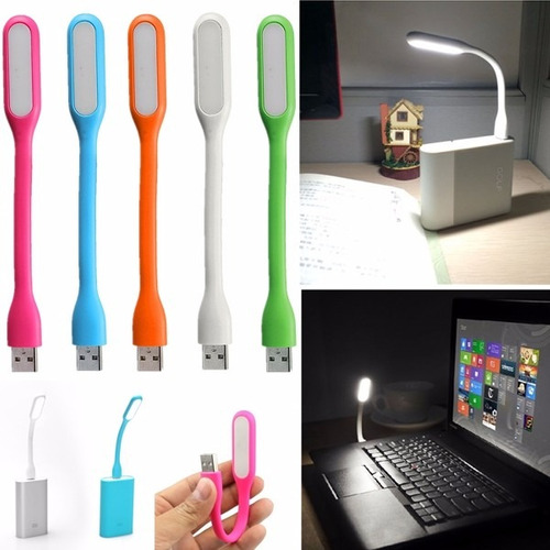 lampara usb portatil led flexible computador pc powerbank
