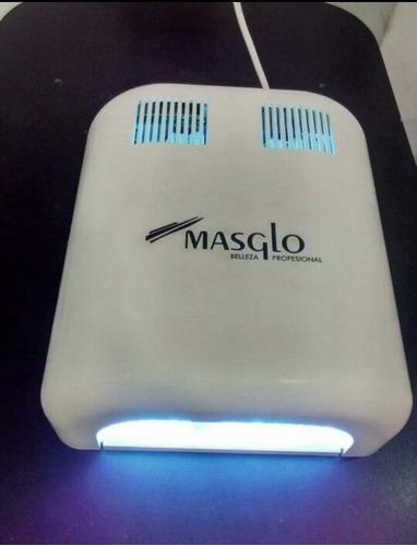 lámpara uv 36watts masglo curado uñas gel y semipermanente