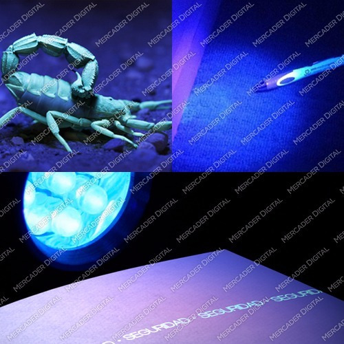 lampara uv de luz negra ultravioleta  docuemntos falsos