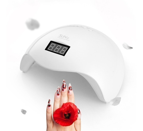 lampara uv-led uñas sun 5 gel secado rapido 48w