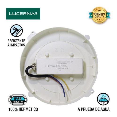 lámpara vapoleta led policarbonato 18w lucerna (10 unidades)