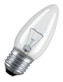 lampara vela clara 70w rosca e27 dimer x10 unidades- tofema.