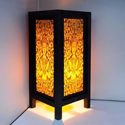 lámpara velador buda