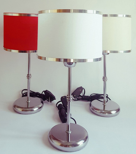 lampara velador con pantalla moderno diseño bombe