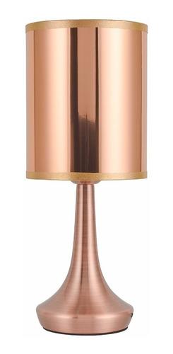 lampara velador de mesa cobre moderno vesta led incluido mks