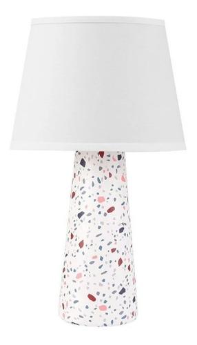 lampara velador de mesa corfu granito moderno e27 apto led