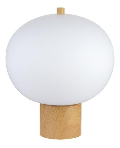 lampara velador de mesa globo vidrio katoi 13w led integrado