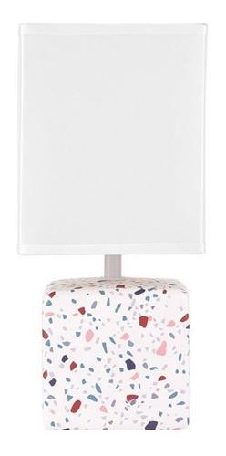 lampara velador de mesa oia granito moderno e27 apto led