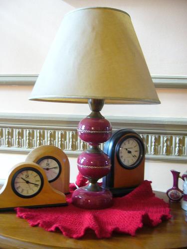 lampara velador en ceramica con pantalla