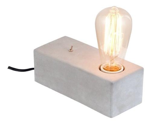 lampara velador escritorio cemento moderno hormigon mac 6w