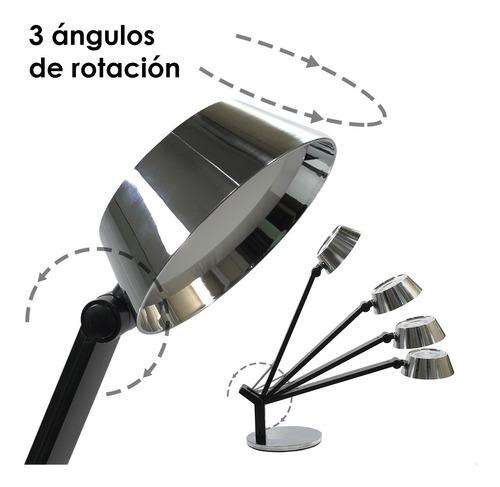 lampara velador escritorio led vintage touch carga celular
