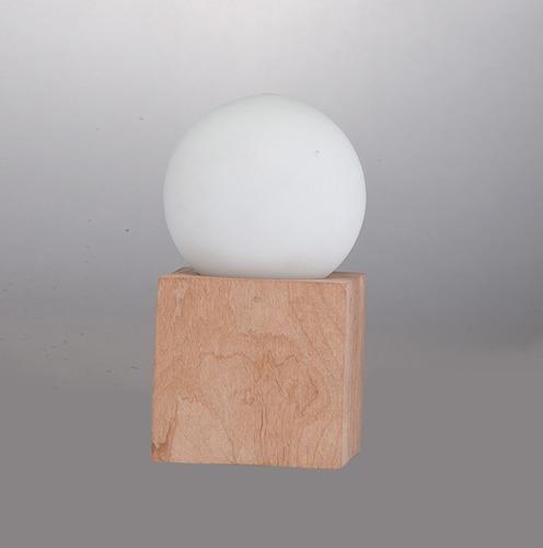 lámpara velador escritorio moderna nórdica cubo c/globo e27