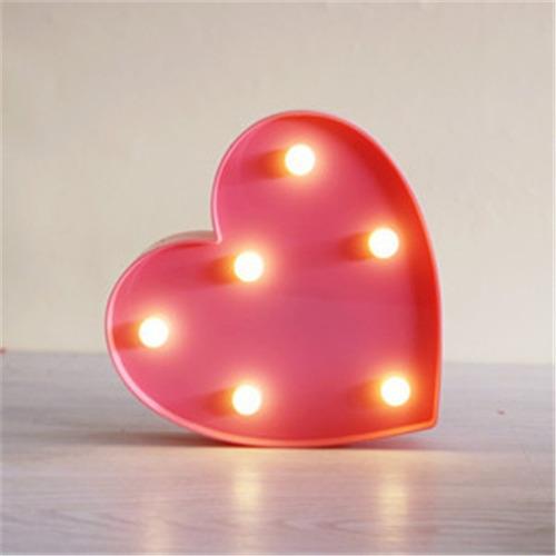 lampara velador infantil. luz de noche. modelo corazón !!