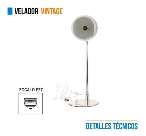 lampara velador metal acero 220v escritorio e27 cuotas