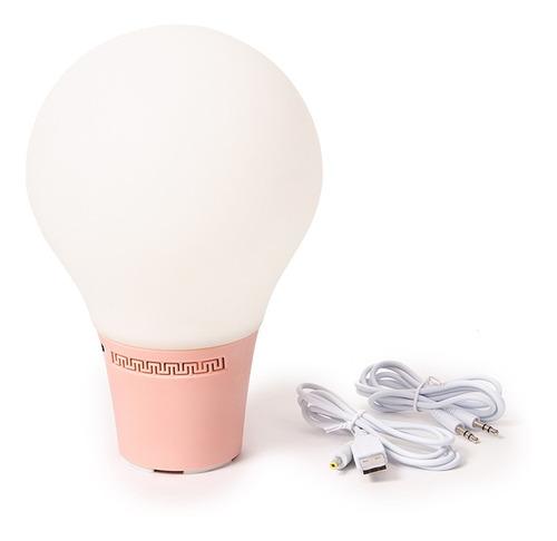 lampara velador parlante carga usb c/luces de colores