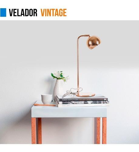 lampara velador vintage metal cobre 220v gu10 cuotas