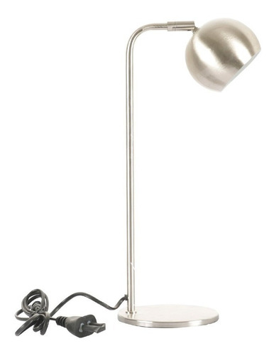 lampara velador vintage metal platil 220v escritorio gu10