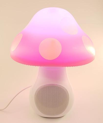 lámpara veladora infantil deco parlante hongo bebes niños