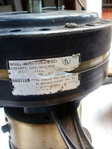 lampara ventilador de techo cuatro aspas