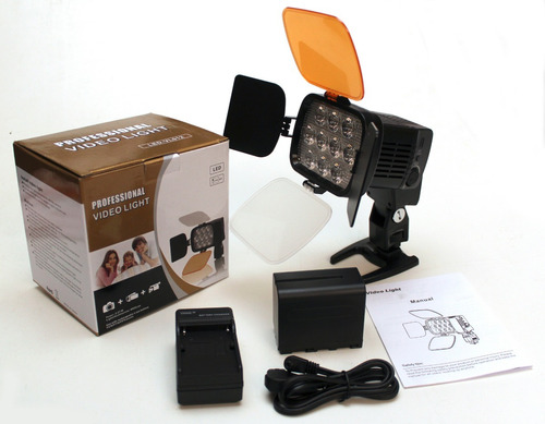 lámpara video profesional 10 leds súper luminosos