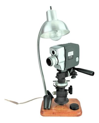 lámpara vintage camara cine bell&howel canon antigua tribeca