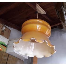 Lampara Vintage Colgante De Vidrio