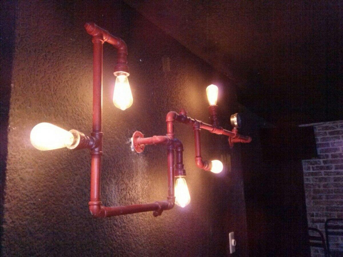 Lampara vintage de pared tipo industrial retro galvanizado - Lampara tipo industrial ...