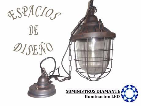 lampara vintage farol rustico incluye foco edison salchicha