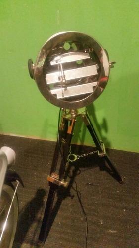 lampara vintage forma reflector antiguo