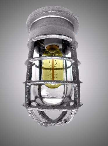 lámpara vintage industrial anti-explosión/ techo foco gratis