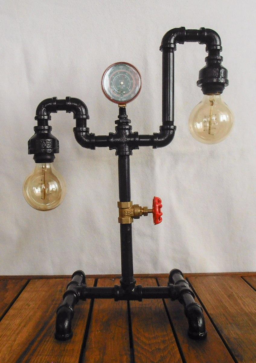 Lampara Vintage Industrial Tubo Steampunk Envio Gratis