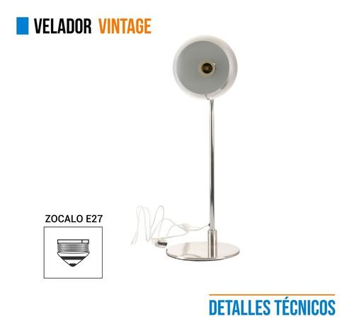 lampara vintage velador metal acero 220v escritorio e27