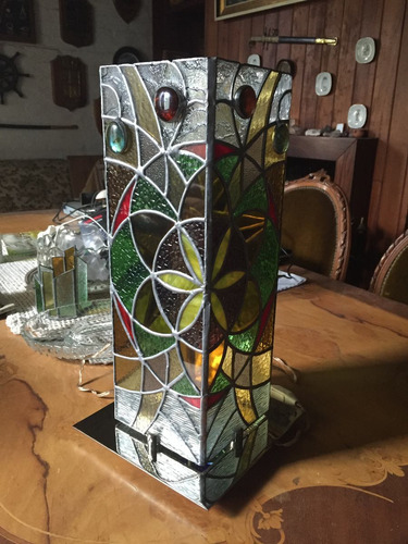 lámpara vitral de mesa