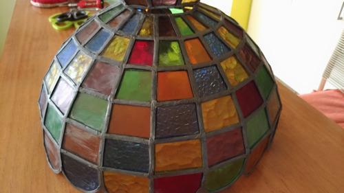 lámpara vitral tipo tiffany