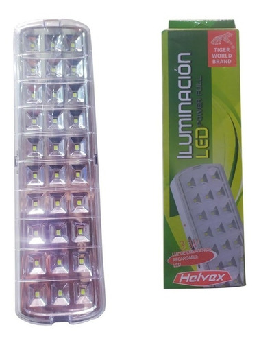 lampara y luz de emergencia recargable 30 leds 3w re11