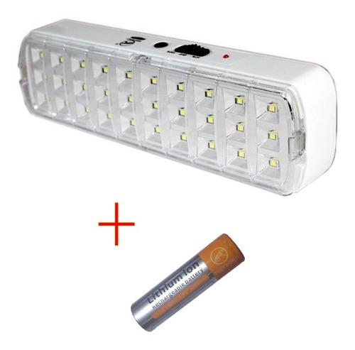 lampara y luz de emergencia recargable 30 leds 3w re11